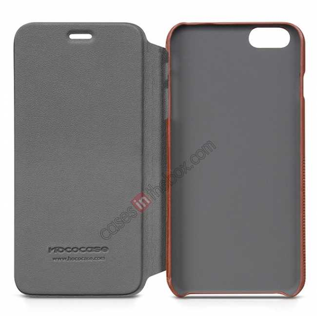 on sale HOCO Retro Fashion Series Protective Leather Case for for iPhone 6 Plus/6S Plus 5.5 Inch - Black