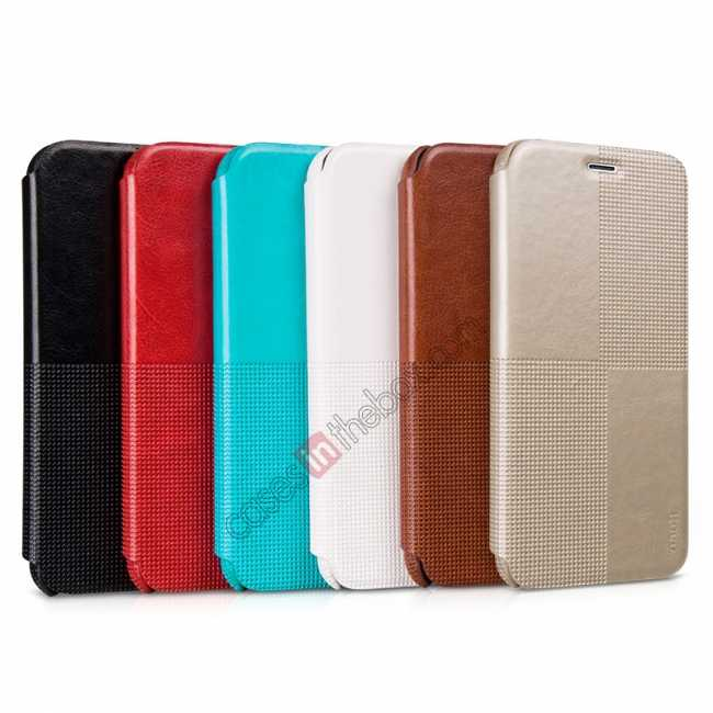 low price HOCO Retro Fashion Series Protective Leather Case for for iPhone 6 Plus/6S Plus 5.5 Inch - Black