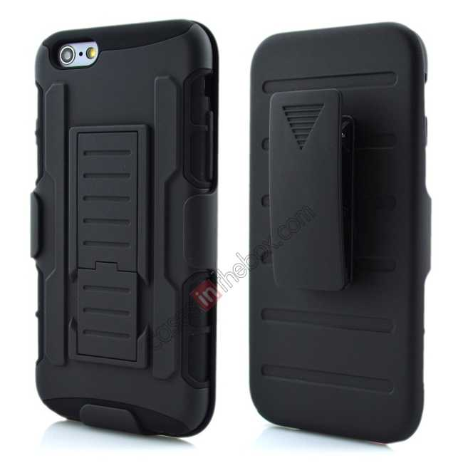 wholesale Hybrid Armor Impact Hybrid Holster Protector Combo Case Cover For iPhone 6/6S 4.7inch - Black