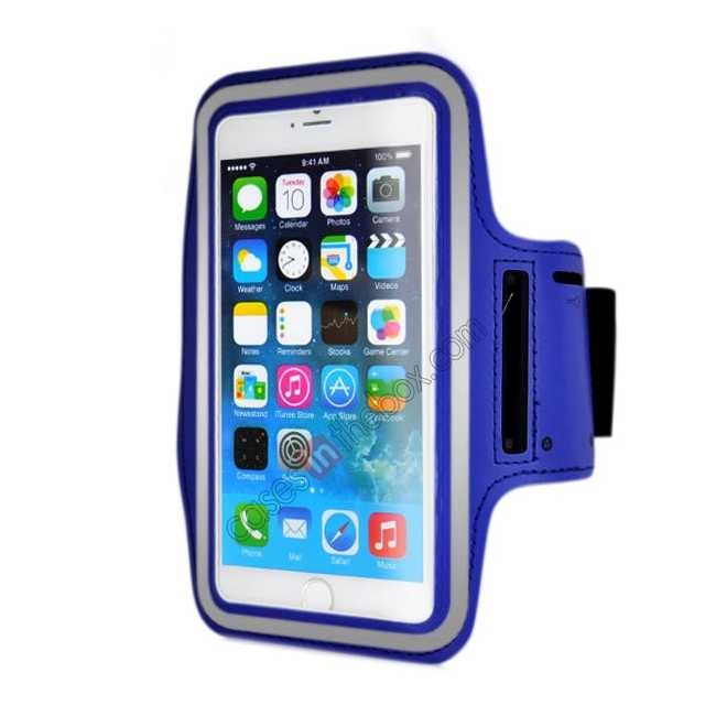 wholesale Sports Running Armband Case Cover For iPhone 6 Plus/iPhone 6S Plus 5.5inch - Blue