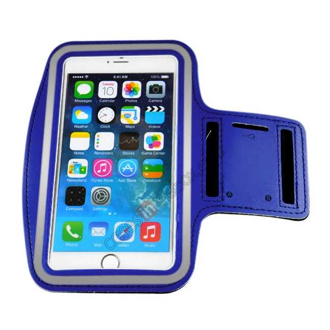 cheap Sports Running Armband Case Cover For iPhone 6 Plus/iPhone 6S Plus 5.5inch - Blue