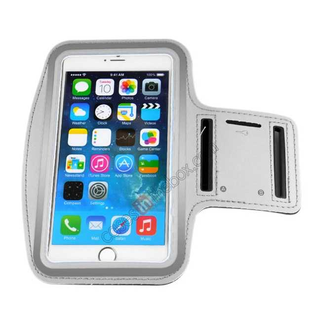 cheap Sports Running Armband Case Cover For iPhone 6 Plus/iPhone 6S Plus 5.5inch - Grey