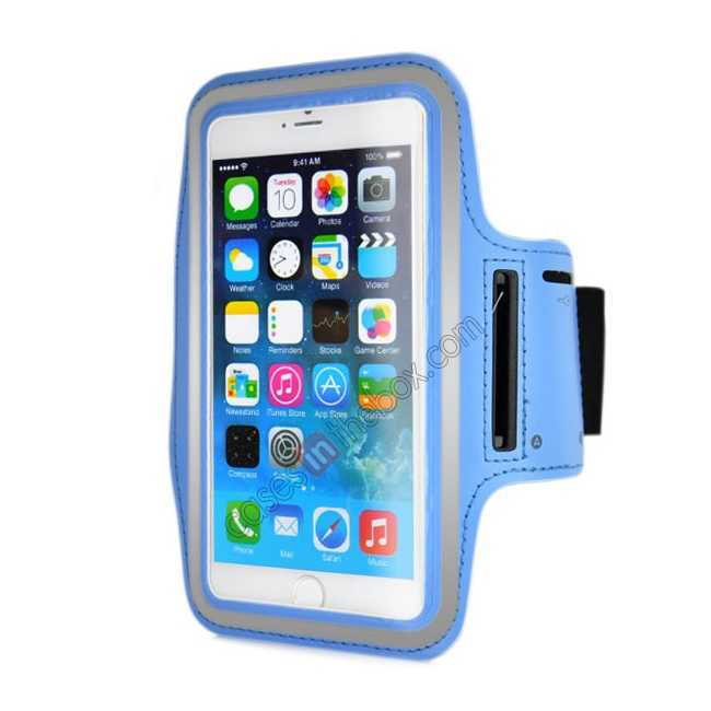 wholesale Sports Running Armband Case Cover For iPhone 6 Plus/iPhone 6S Plus 5.5inch - Light Blue