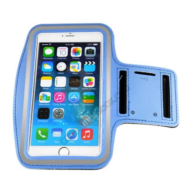 cheap Sports Running Armband Case Cover For iPhone 6 Plus/iPhone 6S Plus 5.5inch - Light Blue