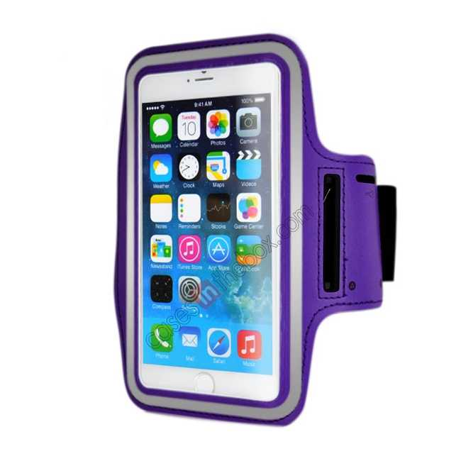 wholesale Sports Running Armband Case Cover For iPhone 6 Plus/iPhone 6S Plus 5.5inch - Purple