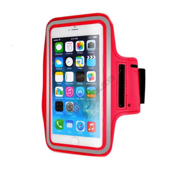 wholesale Sports Running Armband Case Cover For iPhone 6 Plus/iPhone 6S Plus 5.5inch - Red