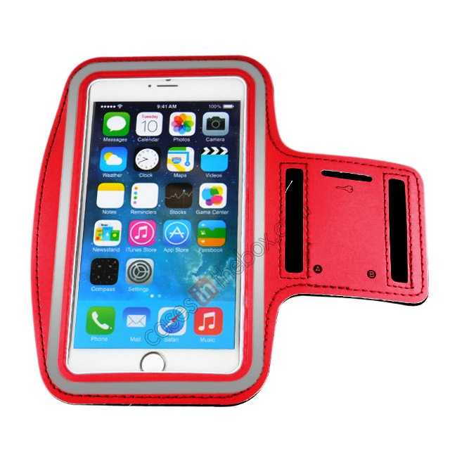 cheap Sports Running Armband Case Cover For iPhone 6 Plus/iPhone 6S Plus 5.5inch - Red