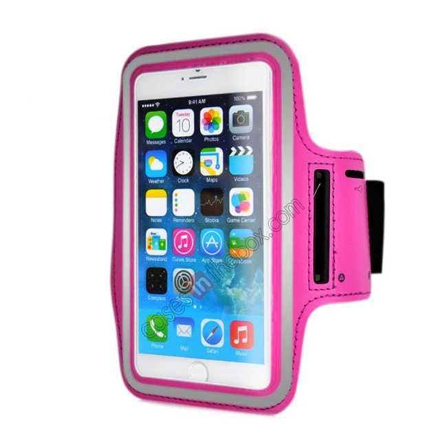 wholesale Sports Running Armband Case Cover For iPhone 6 Plus/iPhone 6S Plus 5.5inch - Rose Red