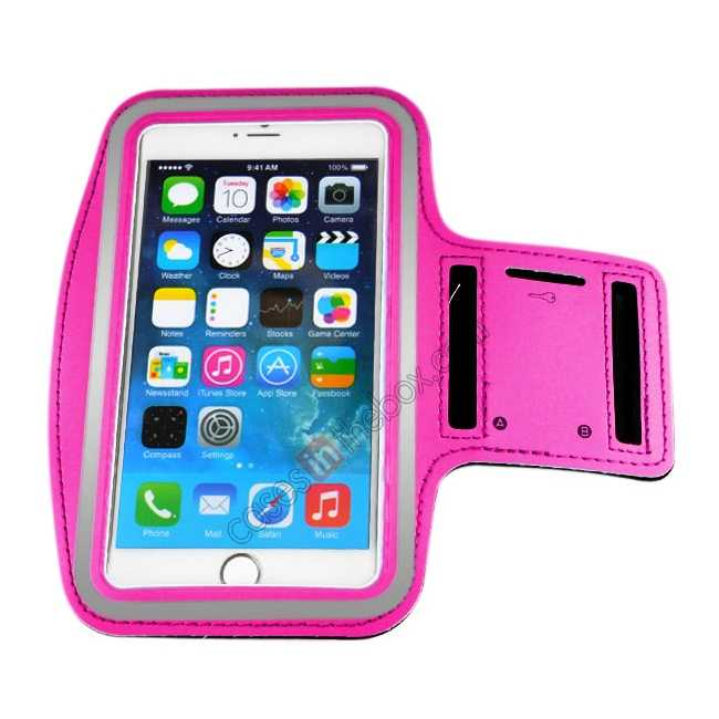 cheap Sports Running Armband Case Cover For iPhone 6 Plus/iPhone 6S Plus 5.5inch - Rose Red