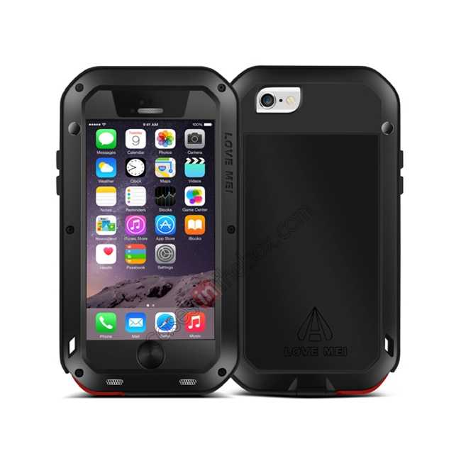 cheap Waterproof Aluminum Gorilla Metal Case For iPhone 6 Plus/6S Plus 5.5inch - Red