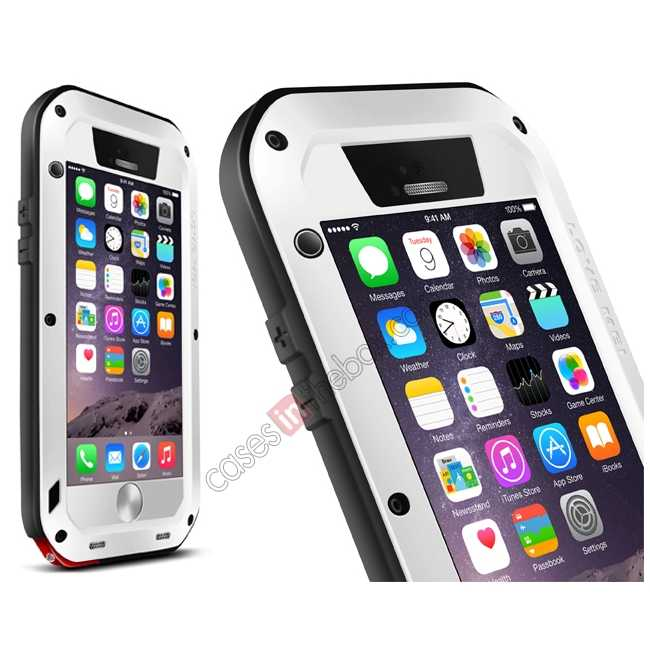 wholesale Waterproof Aluminum Gorilla Metal Case For iPhone 6 Plus/6S Plus 5.5inch - White