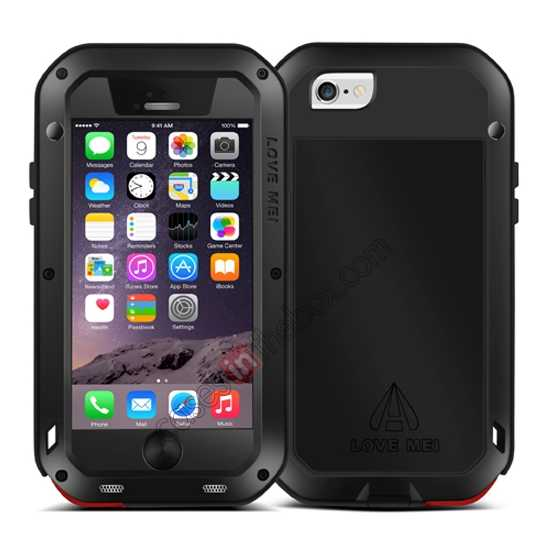 cheap Waterproof Aluminum Gorilla Metal Cover Case For 4.7 iPhone 6/6S - Black