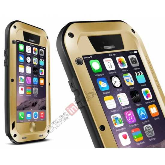 wholesale Waterproof Aluminum Gorilla Metal Cover Case For 4.7 iPhone 6/6S - Golden
