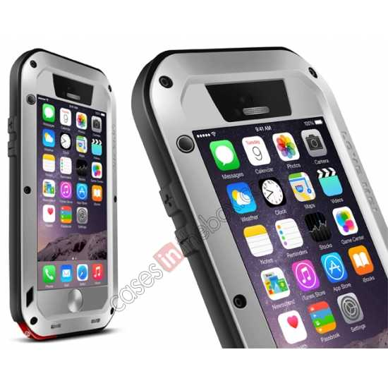 wholesale Waterproof Aluminum Gorilla Metal Cover Case For 4.7 iPhone 6/6S - Silver