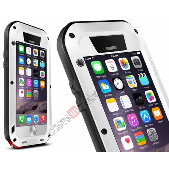 wholesale Waterproof Aluminum Gorilla Metal Cover Case For 4.7 iPhone 6/6S - White