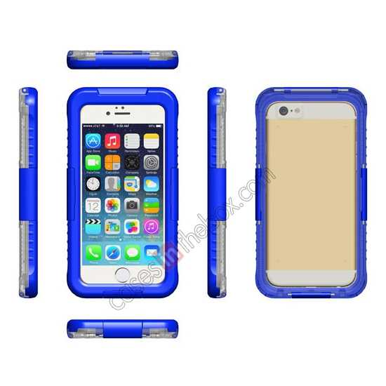 discount Waterproof Shockproof Dirt Proof Durable Case Cover for iPhone 6/6S 4.7inch - Blue