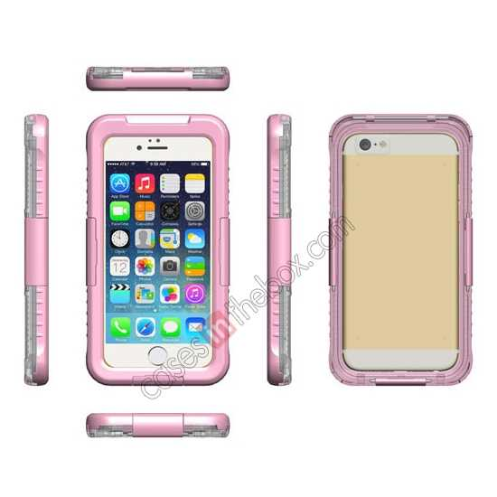 discount Waterproof Shockproof Dirt Proof Durable Case Cover for iPhone 6/6S 4.7inch - Pink