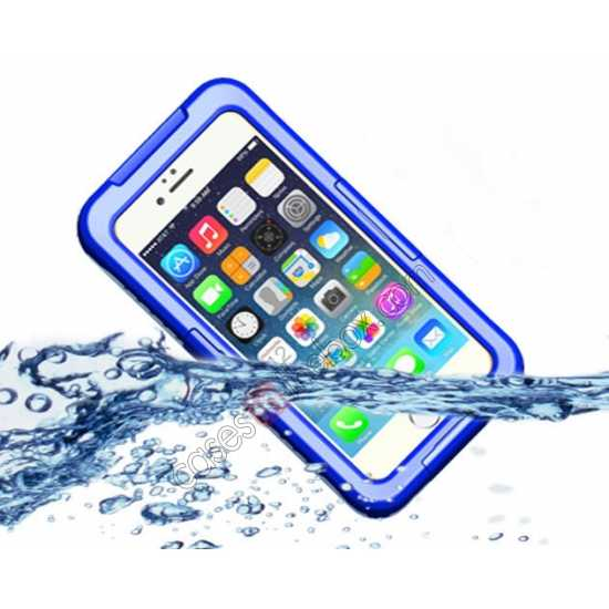 wholesale Waterproof Shockproof Dirt Proof Durable Case Cover for iPhone 6 Plus/6S Plus 5.5inch - Blue