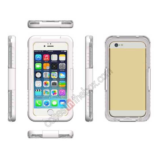 discount Waterproof Shockproof Dirt Proof Durable Case Cover for iPhone 6 Plus/6S Plus 5.5inch - White