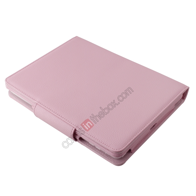 on sale Detachable Bluetooth Wireless Keyboard Leather Case With stand for iPad air 2 - Pink