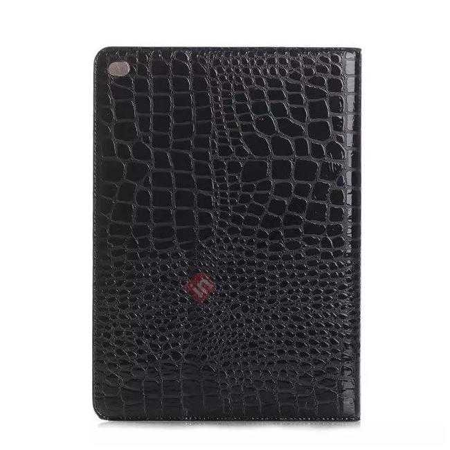 cheap High quality Crocodile Skin Leather Stand Case for iPad Air 2 - Black