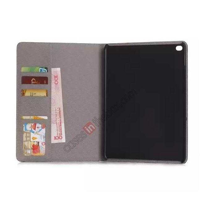 best price High quality Crocodile Skin Leather Stand Case for iPad Air 2 - Black