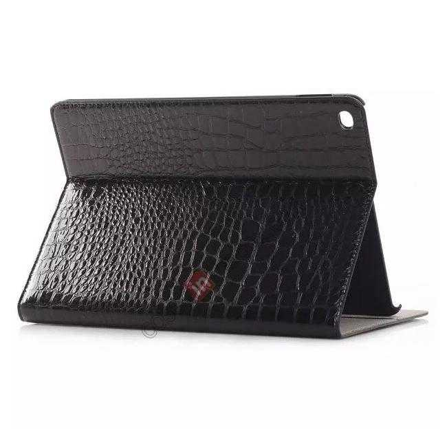 wholesale High quality Crocodile Skin Leather Stand Case for iPad Air 2 - Black
