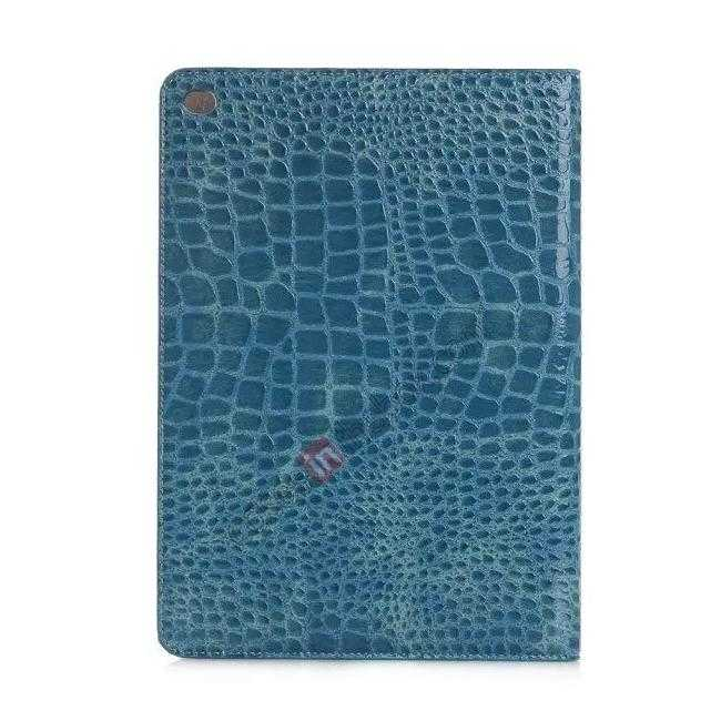 cheap High quality Crocodile Skin Leather Stand Case for iPad Air 2 - Blue