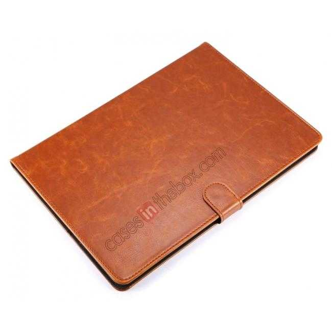 on sale Luxury Vintage Series Leather Stand Case for iPad Air 2 with Sleep/Wake-up Function - Brown