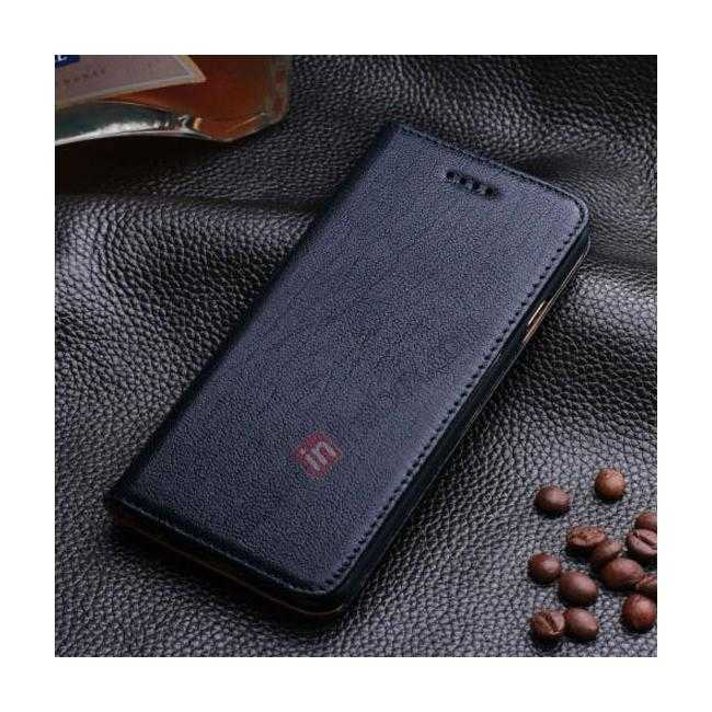 wholesale Luxury Genuine Real Leather Flip Wallet Case Cover For iPhone 6/6S 4.7 inch - Dark Blue