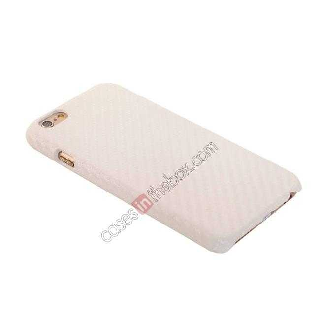 best price Stylish Carbon Fibre Hard Back Cover Case For iPhone 6 Plus/6S Plus 5.5inch - White