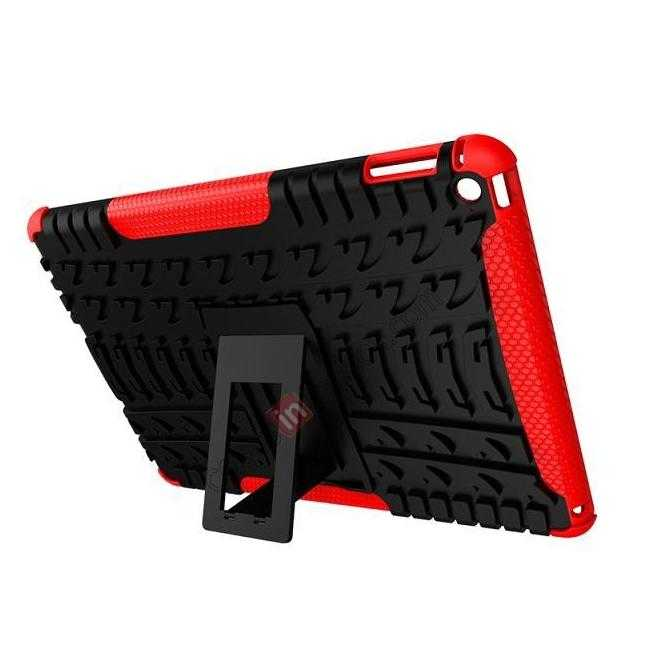discount Durable ShockProof Hybrid Hard Stand TPU Case Cover For iPad Air 2 - Black