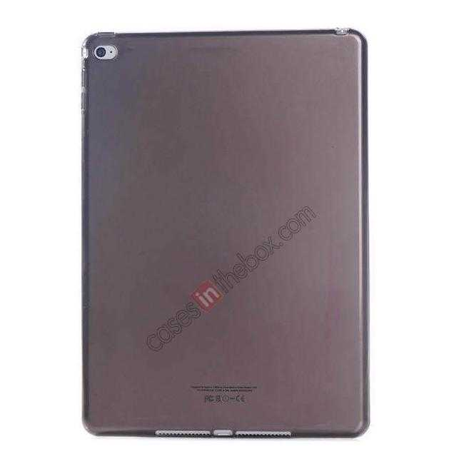 wholesale High Quality Matte Frosted Soft Tpu Gel Case Back Cover for iPad Air 2 - Black