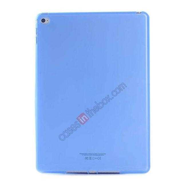 wholesale High Quality Matte Frosted Soft Tpu Gel Case Back Cover for iPad Air 2 - Blue