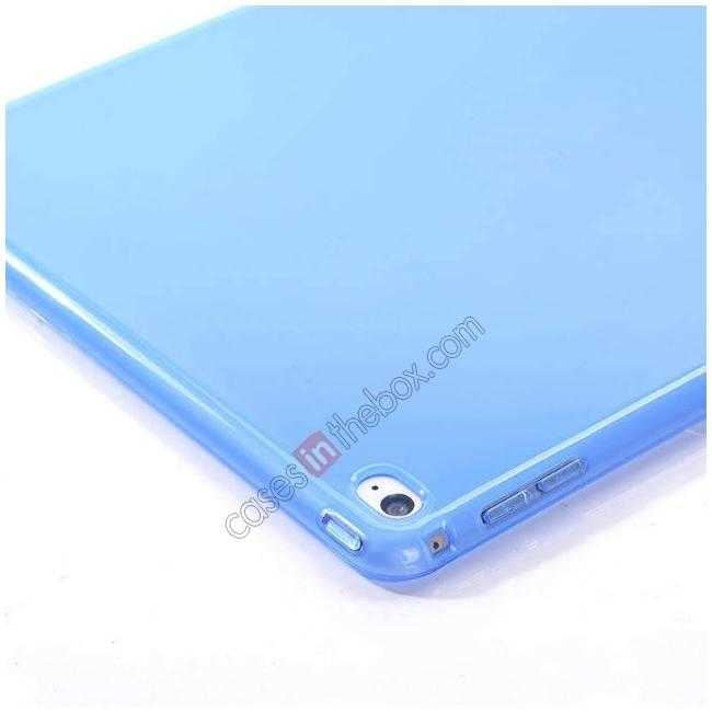 top quality High Quality Matte Frosted Soft Tpu Gel Case Back Cover for iPad Air 2 - Blue