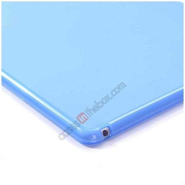 best price High Quality Matte Frosted Soft Tpu Gel Case Back Cover for iPad Air 2 - Blue