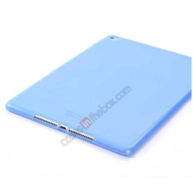 on sale High Quality Matte Frosted Soft Tpu Gel Case Back Cover for iPad Air 2 - Blue