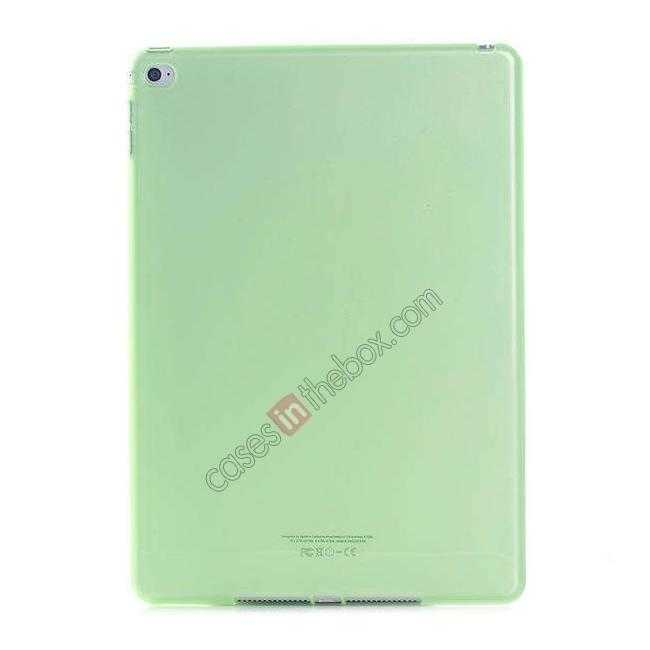 wholesale High Quality Matte Frosted Soft Tpu Gel Case Back Cover for iPad Air 2 - Green