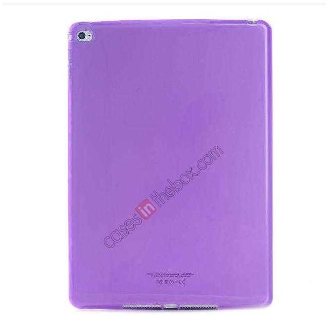 wholesale High Quality Matte Frosted Soft Tpu Gel Case Back Cover for iPad Air 2 - Purple
