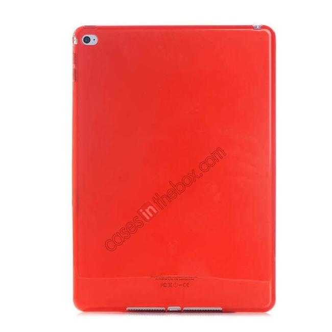wholesale High Quality Matte Frosted Soft Tpu Gel Case Back Cover for iPad Air 2 - Red