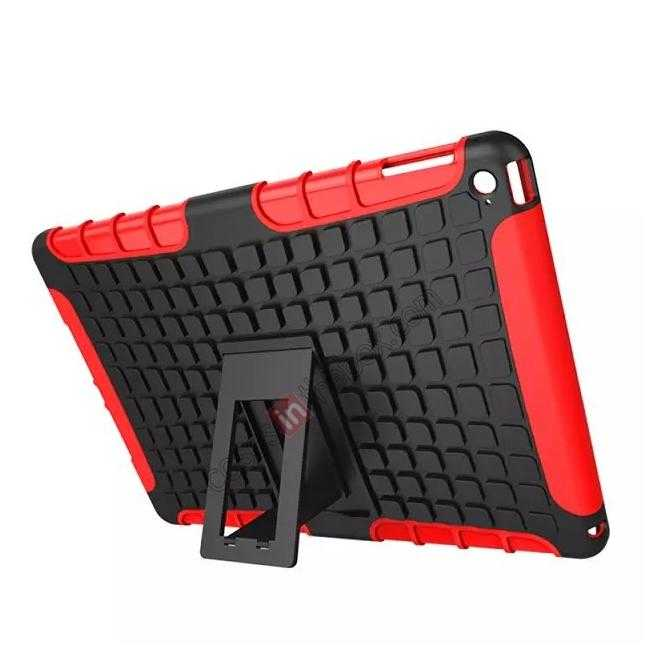 cheap Shockproof TPU Hybrid Hard Kickstand Case Cover For iPad Air 2 - Red