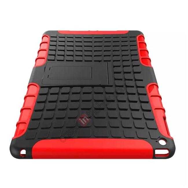 top quality Shockproof TPU Hybrid Hard Kickstand Case Cover For iPad Air 2 - Red
