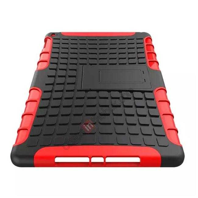 best price Shockproof TPU Hybrid Hard Kickstand Case Cover For iPad Air 2 - Red