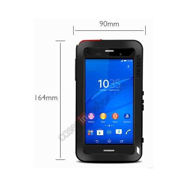 high quanlity Waterproof Shockproof Aluminum Gorilla Metal Case Cover For Sony Xperia Z3