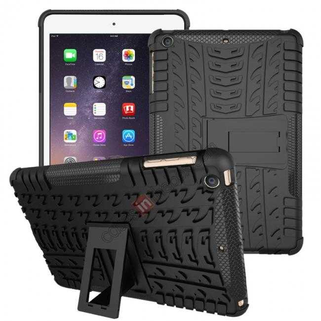 wholesale Durable ShockProof Hybrid Hard Stand TPU Case Cover For iPad mini 3/iPad mini 2 - Black
