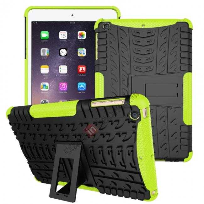 wholesale Durable ShockProof Hybrid Hard Stand TPU Case Cover For iPad mini 3/iPad mini 2 - Green