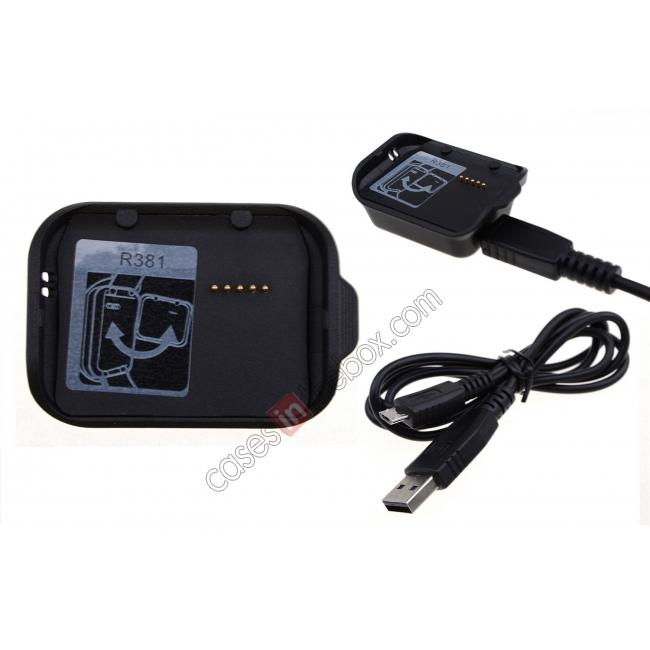 wholesale Charging Dock Cradle Power Charger Adapter For Samsung Gear 2 Neo R381 - Black