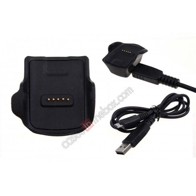 wholesale Charging Dock Cradle Power Charger Adapter For Samsung Gear Fit R350 - Black