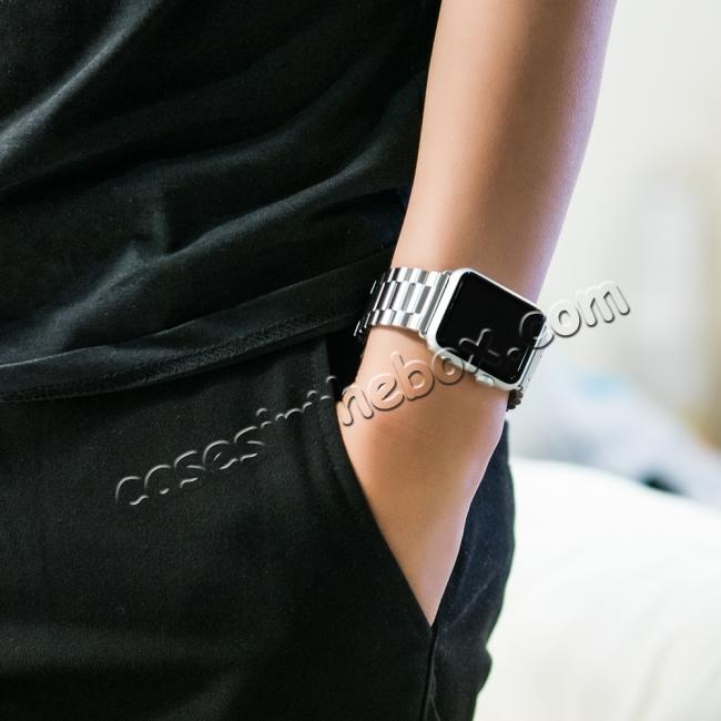 china cheap HOCO Stainless Steel Strap Classic Buckle Adapter Watch Bands for Apple Watch