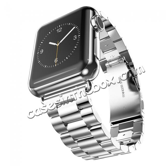 China leading wholesale HOCO Stainless Steel Strap Classic Buckle Adapter Watch Bands for Apple Watch Series1/Watch Series2